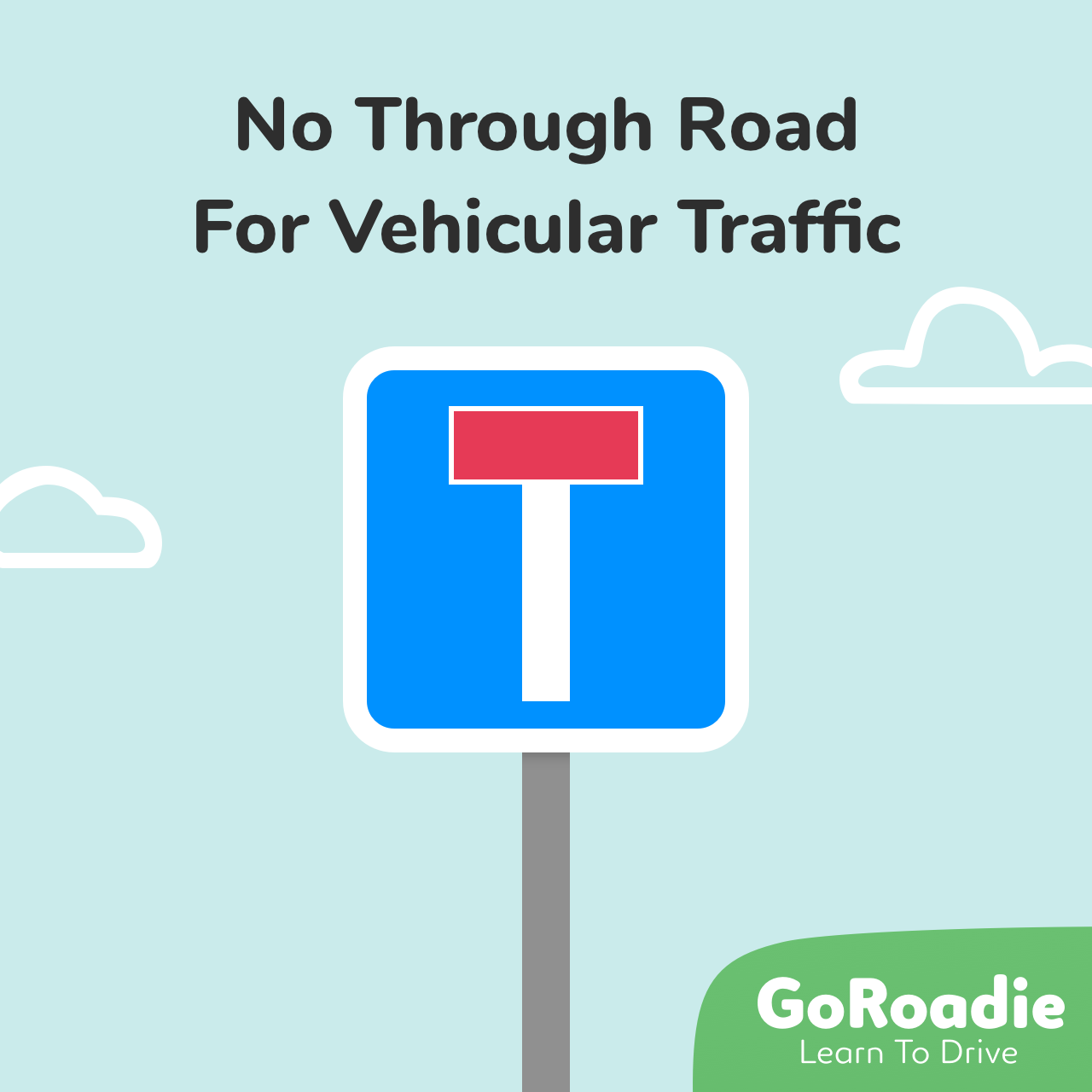 No Through Road For Vehicular Traffic traffic sign illustration