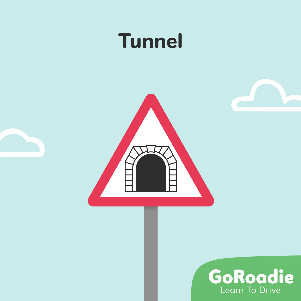 Tunnel traffic sign illustration